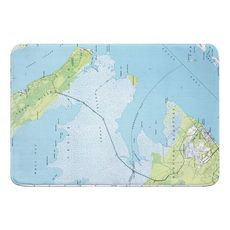 Atlantic, NC (1949) Topo Map Memory Foam Bath Mat