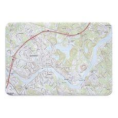 Haverhill, MA Topo Map Memory Foam Bath Mat