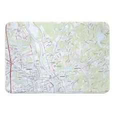 Nashua North, NH Topo Map Memory Foam Bath Mat