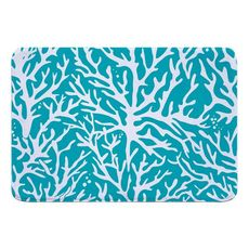 Coral Light Turquoise Memory Foam Bath Mat