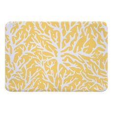 Coral Yellow Memory Foam Bath Mat