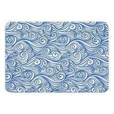 Dreamy Sea Blue Memory Foam Bath Mat