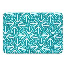 Tribal Lagoon Turquoise Memory Foam Bath Mat