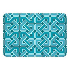 Nassau Spa Day Turquoise Memory Foam Bath Mat