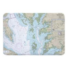 Chesapeake Bay, MD-VA Nautical Chart Memory Foam Bath Mat