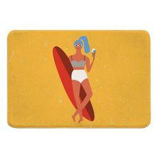 Surfer Girl - Val Memory Foam Bath Mat