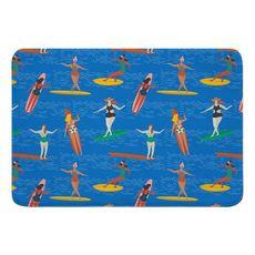 Surfer Girl Surf Party Memory Foam Bath Mat