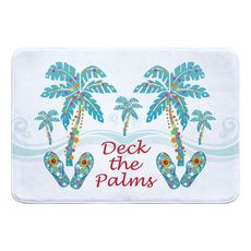 Deck the Palms Memory Foam Bath Mat