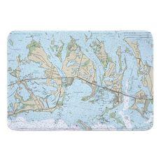 Sugarloaf, Cudjoe & Summerland Keys, FL Nautical Chart Memory Foam Bath Mat