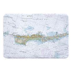 Vaca Key Marathon, FL Nautical Chart Memory Foam Bath Mat