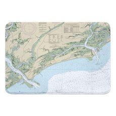 Kiawah Island, SC Nautical Chart Memory Foam Bath Mat