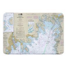 Buzzards Bay, MA Nautical Chart Memory Foam Bath Mat