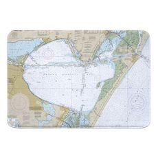 Corpus Christi Bay, TX Nautical Chart Memory Foam Bath Mat