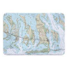 Ramrod, Torch & Big Pine Keys, FL Nautical Chart Memory Foam Bath Mat