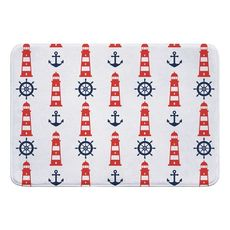 Captains Key Lighthouse Memory Foam Bath Mat
