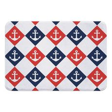 Captains Key Anchor Memory Foam Bath Mat