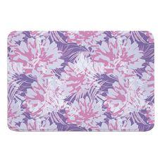 Purple Floral Fusion Memory Foam Bath Mat