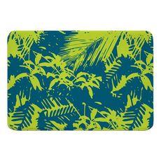 Walker's Cay Island Getaway Turquoise Lime Memory Foam Bath Mat