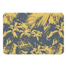 Walker's Cay Island Getaway Gray Yellow Memory Foam Bath Mat