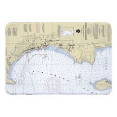Burlington, VT Nautical Chart Memory Foam Bath Mat