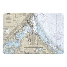 Duluth, MN & Superior, WI Nautical Chart Memory Foam Floor Mat