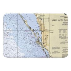 Sarasota, FL Nautical Chart Memory Foam Bath Mat