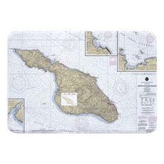 Santa Catalina Island, CA Nautical Chart Memory Foam Bath Mat