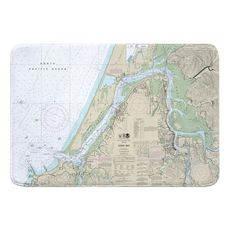 Coos Bay, OR Nautical Chart Memory Foam Bath Mat