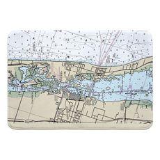 Vero Beach, FL Nautical Chart Memory Foam Bath Mat