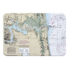 Jacksonville, FL Nautical Chart Memory Foam Bath Mat