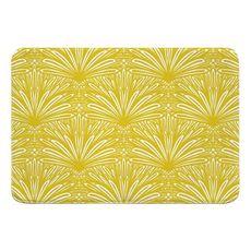 Art Deco Goldenrod Memory Foam Bath Mat