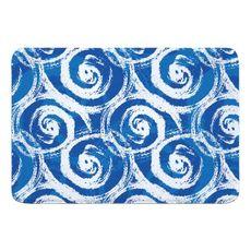 Blue Swirls Memory Foam Bath Mat
