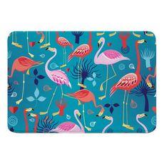 Flamingo Love Memory Foam Bath Mat