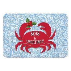 Seas & Greetings Crab Christmas Memory Foam Bath Mat