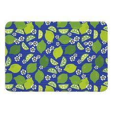 Limes & Daisies Memory Foam Bath Mat