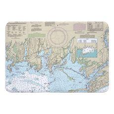 Stonington, CT Nautical Chart Memory Foam Bath Mat