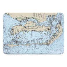 Pine Island, Cayo Costa, Sanibel Island, FL Nautical Chart Memory Foam Bath Mat