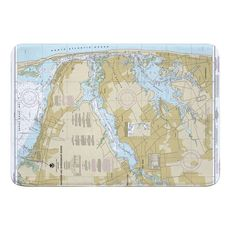 Navesink and Shrewsbury Rivers, Redbank, Rumson Neck, NJ Nautical Chart Memory Foam Bath Mat