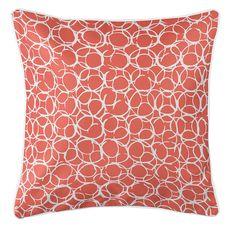 Bora Bora Coral Coastal Pillow