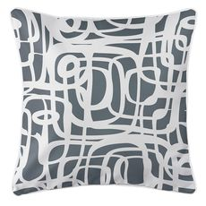 Tahiti Gray Coastal Pillow