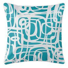 Tahiti Turquoise Coastal Pillow