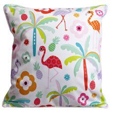 Tropi Cool Flamingos Pillow