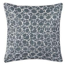 Bora Bora Gray Coastal Pillow