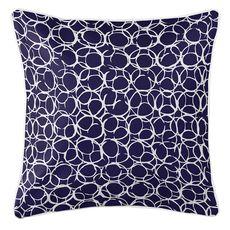 Bora Bora Navy Coastal Pillow