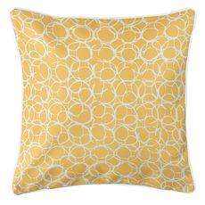 Bora Bora Yellow Coastal Pillow