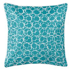 Bora Bora Turquoise Coastal Pillow