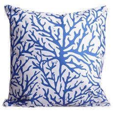 Coral Cobalt Pillow