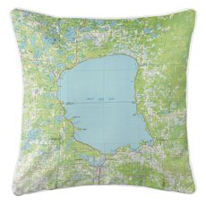 Mille Lacs Lake, MN (1985) Topo Map Coastal Pillow