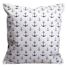 Anguilla - Fish & Anchors Pillow