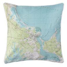 Edgartown, MA (1972) Topo Map Coastal Pillow